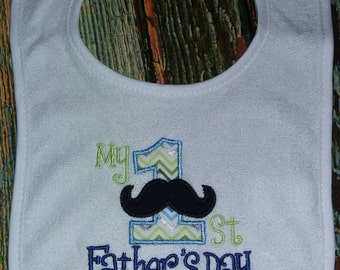 My 1st Father's day Bib, father's day bib, holiday bib, father's day gift