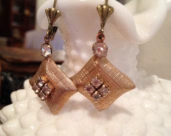 Repurposed Vintage Screwback Earrings
