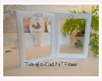 Set of 2 Shabby Adorable 5 x 7 Picture Frames~