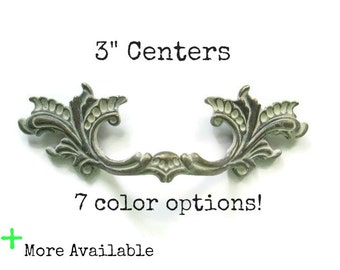 """French Provincial drawer pulls - 3"""" centers - More Available - 7 color options"""