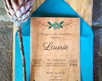 Flowerwood Bridal Shower Invitations