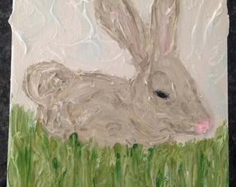 Custom Bunny Rabbit Painting **Private Message BEFORE PURCHASING**