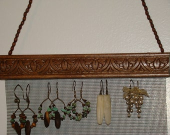 Jewelry Organizer Hanging Jewelry Holder Display 'Moon Blossom'
