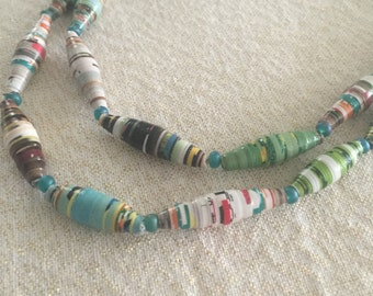 Two-Tier Magazine Bead Necklace