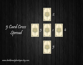 5 Card Cross Tarot Reading - What is the Situation - Intuitive Tarot Reader - email/PDF