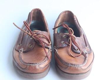 Vintage Dexter Brown Leather Loafers Men's Size 7.5