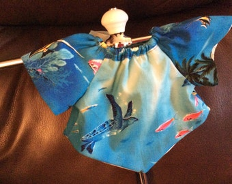 American Girl, Waldorf doll clothes, sea turtle