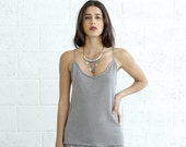 Valentines day SALE!Knitted Tank Top, Silver.