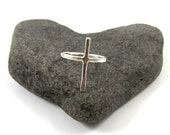 Sterling Silver Cross Ring, Hammered,Textured, Handmade, Christian Inspired Jewelry, Easter, Religious, Minimilist, Gift Idea, Simple Rings