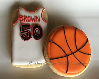 Basketballs and Jersey Cookies 2 dozen