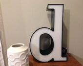 Reclaimed Metal letter - d
