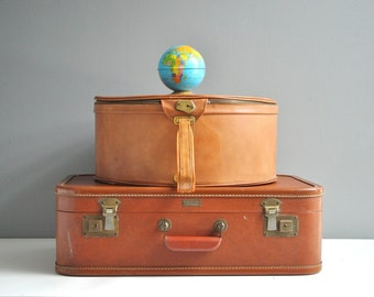 Vintage Rust Red Aero Pak Suitcase