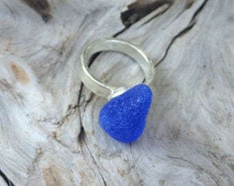 Genuine Sea Glass Ring, Size 6