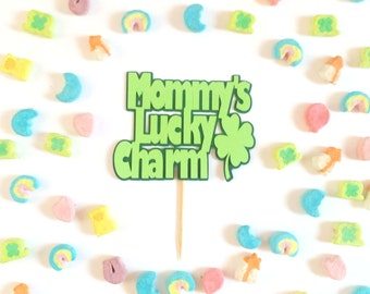 Mommy's Lucky Charm Cupcake Toppers