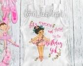 """ballerina birthday girl shirt ballet / dance theme party tshirt birthday girl / """"Let's Dance and Twirl I'm the Birthday Girl"""""""