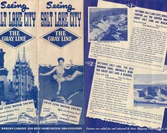 Vintage 1946 Brochure for Salt Lake City Gray Line Motor Tours - Free Shipping