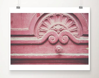 pink door photograph door handle photograph Paris photograph Paris decor rustic decor architecture photograph travel photography