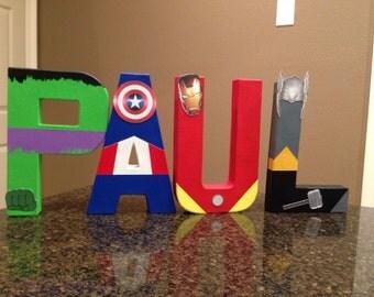 Avengers Custom Name Letters