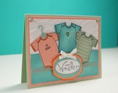 Baby Shower Card - Congratulations Baby Card - Welcome Baby Card - Card For New Parents - Stampin Up Card - Baby Neutral Card - Baby Card
