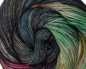 sw wool nylon sport yarn ISLA de MUERTA 3.5oz 306 yards hand dyed