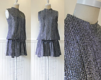 1960s Party Dress --> 60s Mod Mini Dress --> 1960 Dress --> 1960s Dress --> Mod Dress --> Silver Dress --> 60s Dress