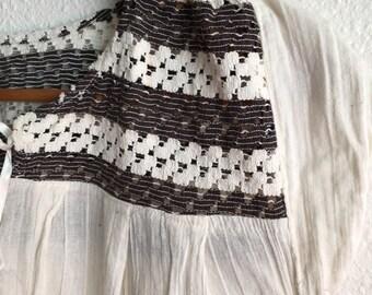 Folky cotton blouse // mexico folk//