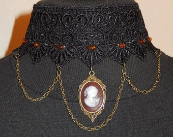 Sale Brown lady choker 2 of a kind