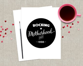 Custom Mother's Day Card / Funny Mothers Day Card / For Mom / Stepmom Card / Customizable Mothers Day Card / Black and White Card / Custom