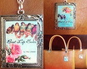 Custom RESERVED item for Kim (3). Mini ministry beg with custom Best Life Ever and baptism date tag