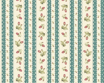 Welcome Home Collection One, Floral stripe MAS8364-Q, by Jennifer Bosworth for Maywood Studios