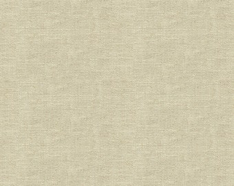 Heavy Linen Look Fabric for Drapery -Beautiful Drape- Attractive - Linen Blend. Fabulous for linen drapery - Color- Cream-  per yard