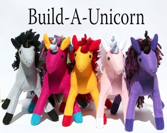 Build-A-Unicorn Personalized Fantastical Toy ~ Handmade-to-Order Eco Friendly Stuffed Unicorn Toy, Custom Plush, Unicorn Plushies, Girls