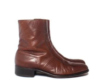9 D | Men's Brown Florsheim Imperial Zipper Ankle Boots