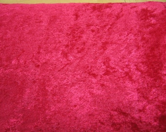Fabric // Red Panne Stretch Velvet