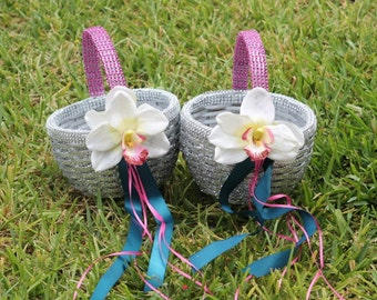 Glitter and Bling Flower basket set