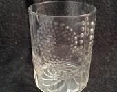 Flora by Iittala Vintage Glass Vase.  Oiva Toikka.   Made in Finland.  Raised Clear Glass.  Danish Modern.  Mid century modern, Eames era.
