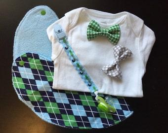 Bow tie onsie gift sets