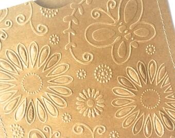 Embossed DVD Cases / Sleeves - Set of 10 brown DVD sleeves