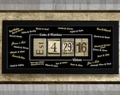 Personalized, Framed, GUEST BOOK Signature Print - Number Photography, Established Date Sign, Alternative Guest Book Idea