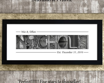 Mother of the Bride Gift, Last Name Sign, Mother of the Groom Gift, Personalized Wedding Gift, Alphabet Art Photos, Bridal Shower Gift