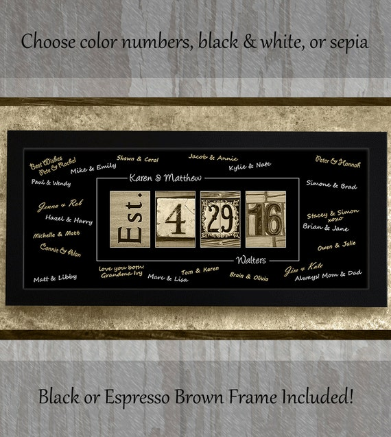 AlphabetArtPhotos - Personalized, Framed, WEDDING GUEST BOOK ...