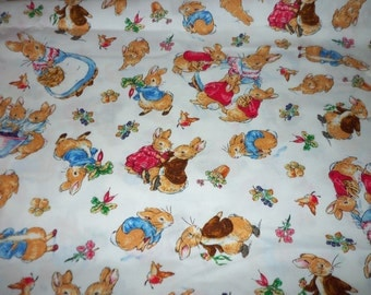Peter Rabbit Fabric Very Rare Colorful 2001 Release  New By The Fat Quarter