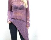Mulberry Loose Irregular Sweater.