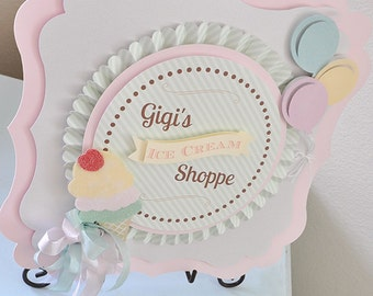 Ice Cream Social Birthday Sign