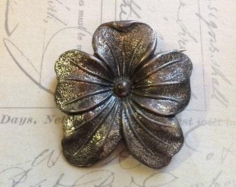 Vintage sterling pansy brooch