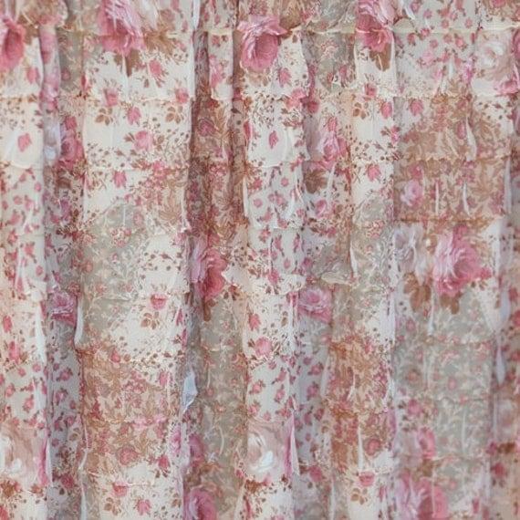Ruffle Fabric/2 Inch Ruffle Fabric/Ruffle Flower Fabric/Ruffle Floral Fabric/Ruffle Knit Fabric/Soft Ruffle Fabric/Ruffle Dress Fabric