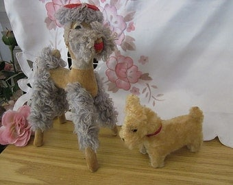80's Two Hand Made Collectible Dogs