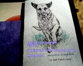 mission complete ( a best friend's song ) German Shepherd cards/ journey cards/sentimental cards/unique empathy condolence cards