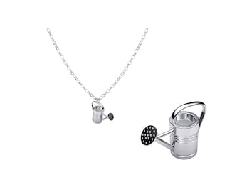 Potting Shed Gardening Collection Silver Watering Can Pendant Necklace
