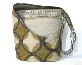 Cross Body Purse, Shoulder Tan, Brown and Bronze